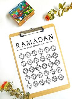 Ramadan Countdown to Eid Chart Printable