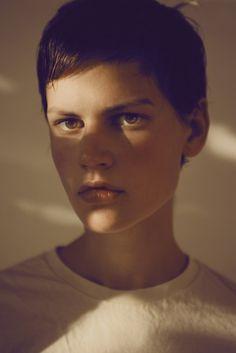 Saskia de Brauw - Amsterdam, Netherlands. Known for: Androgynous look, cheekbones, and short hair