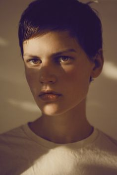 Saskia de Brauw - Amsterdam, Netherlands. Known for: Androgynous look, cheekbones, and short hair