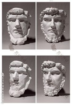 Head Anatomy, Drawing Heads, Sculpture Techniques, Anatomy For Artists, Academic Art, Stone Statues, The Martian, Geometric Shapes, New Art