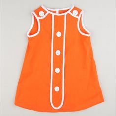 She will look cute as a button in this A-line button dress