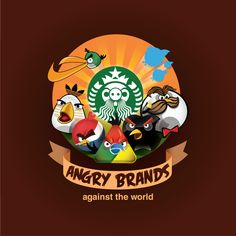 Angry brands: Angry birds parody of famous brands | StockLogos.com