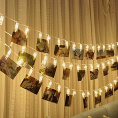 String Lights, LED Photo Clips Lights, Party Lights for Hanging Artwork Photos Memos and Paintings, Battery Powered, 10 Feet, (Warm White) (50)