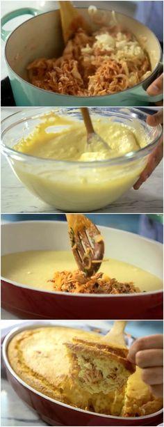 Torta Rápida de Frango, esta ai uma receita que vale a pena #frango #tortadefrango #massas