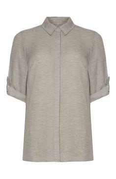 Primark - Graues, ausgewaschenes Kurzarmhemd