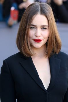 Pin for Later: Straight Talking: 33 Hairstyles That Don't Require Curls Emilia…