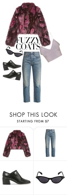 """""""faux fur power"""" by angel534 on Polyvore featuring Pologeorgis, RE/DONE and TIBI"""