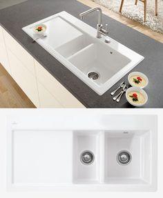 Villeroy & Boch SUBWAY 60 1.5 Bowl Ceramic Sink - Ceramic Line
