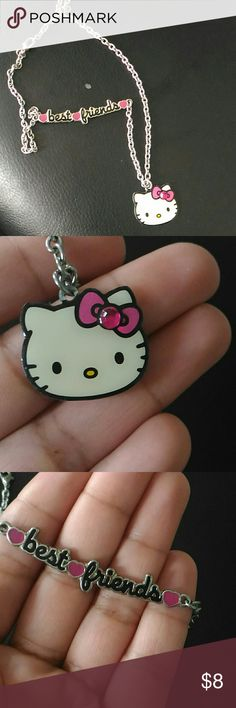Hello Kitty Best Friend Necklace Just like new. Bought this off Most is. Hello Kitty Accessories Jewelry