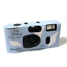 Blue Sea Shells Wedding Camera (Set of 4) | Nuptial Knick Knacks      27 EXP. FLASH CAMERAS LOADED WITH AGFA 400 SPEED COLOR FILM. PERFECT FOR INDOOR AND OUTDOOR USE. SIMPLY USE YOUR CAMERAS AND HAVE ANY PHOTO PROCESSOR DEVELOP THE FILM. EACH CAMERA IS WRAPPED INDIVIDUALLY AND COMES WITH IT'S OWN TABLE TENT INSTRUCTION CARD.