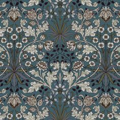 As part of the House of Hackney x William Morris collection, the 'Hyacinth' print is reimagined and remastered. The Art Nouveau design features plant formations block-printed onto paper - a William Morris signature.