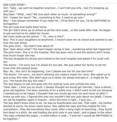 Now that you've read this, I should tell you something--stop writing stories like this, romanticizing suicide. It is not a lovely thing. It is not sweet or cute or romantic. What it is is something that needs to be stopped. All you people say you're against suicide by day, but by night, you go and write stories like this, making it seem like the sweetest thing you can do.