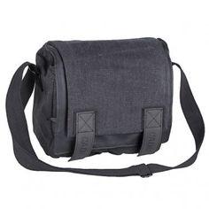 Medium Size Camera Fashion Shoulder Canvas Waterproof Black Bag Case for DSLR