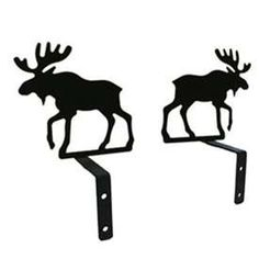 Wrought Iron Moose Curtain Swags at Timeless Wrought Iron