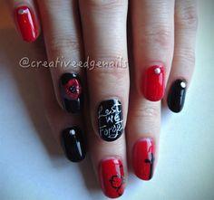 Remembrance Day Nails by creativeedge from Nail Art Gallery Nail Polish Art, Nail Polish Designs, Nail Art Designs, Art Nails, Remembrance Day Art, Polish Holidays, November Nails, Holiday Nail Art, Nail Art Galleries