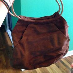 Gap brown suede hand bag NWOT NWOT brown suede Gap Bag GAP Bags