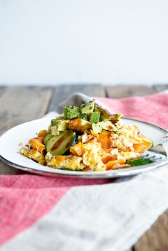 California Avocado and Sweet Potato Hash Recipe from dineanddish.net. A Whole 30 Favorite!