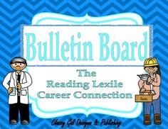 The Reading Lexile Career Connection Bulletin Board~Turquoise Chevron Reading Goals, Reading Nook, World Goals, Turquoise Chevron, Lexile, Student Goals, Career Choices, Teaching Aids, Bulletin Boards