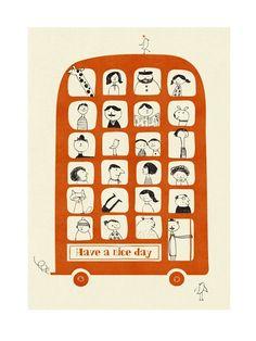 Magic Bus Poster (50x70cm)