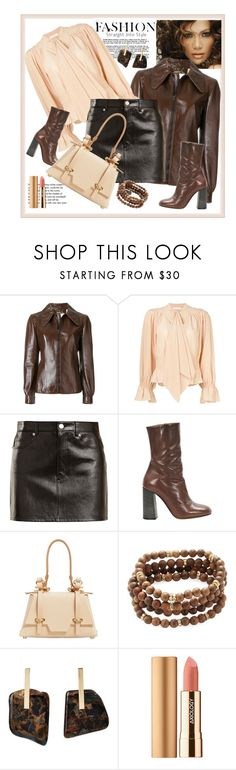 """She Loves Leather"" by stars-5 ❤ liked on Polyvore featuring Jennifer Lopez, Chloé, Tiffany & Co., Helmut Lang, Niels Peeraer, Mary Louise Designs, Kathleen Whitaker and Axiology"