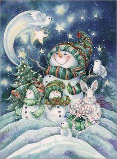 Poster Die glückliche Weihnacht