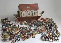Noah's Ark - German Erzgebirge Region c. 1880.