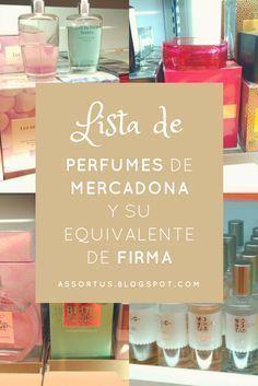Perfumes y colonias de Mercadona que son clones o equivalencias de otras famosas colonias de marca o firma listado actualizado