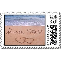 Love on the beach - Customized - Customized Stamp