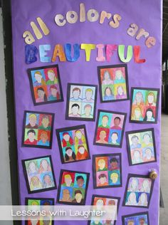 Lessons with Laughter: Diversity & Rainbows! Diversity Bulletin Board, Diversity In The Classroom, Bulletin Boards, Multicultural Classroom, Multicultural Activities, Elementary Counseling, Art Lessons Elementary, School Counseling, Elementary Schools