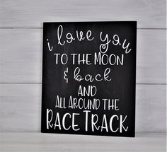 Racing Sign Nursery Decor I Love You to the Moon & Back and All Around the Race . Racing Sign Nursery Decor I Love You to the Moon & Back and All Around the Race Track I Love You to the Moon Baby Boy Room Decor, Baby Boy Rooms, Baby Boy Nurseries, Kid Rooms, Baby Room, Race Car Nursery, Race Car Room, Car Themed Nursery, Car Themed Bedrooms