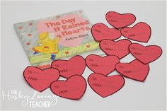A FREE heart activity to do with students to express kindness in the classroom! I do this for 6 weeks leading up to Valentine's Day!