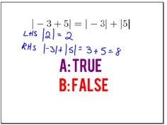 26 Absolute Value Ideas Absolute Value Absolute Value Equations Middle School Math