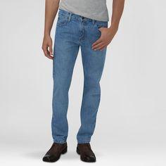 Dickies Men's Slim Fit Straight Leg 5-Pocket Pant Light Indigo 42X32, Light Denim