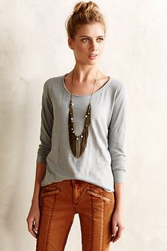 Best t-shirts ever. 16 colors and patterns #anthrofave #anthropologie