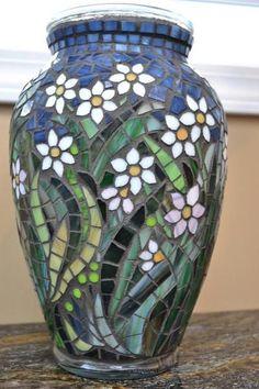 mosaic flowers vase | http://lomets.com