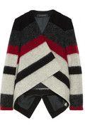 Thakoon|Striped brushed wool-blend jacket|NET-A-PORTER.COM