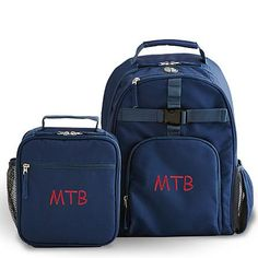 Personalized Backpack and Lunchbox Set