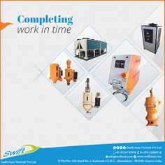 Swift Auxi Technik has a range of machines that finish the task in a short time which saves the time of clients and give them the desired outcomes. #HotAirDryer #DEHumidifier #MouldTemperatureControl #PositiveDisplacementPumps #PowderLoader W:http://www.swiftauxi.com/ M:+91 9724797978
