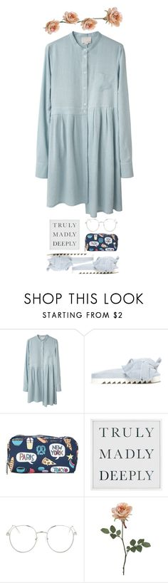 """""""#105"""" by ghvstly ❤ liked on Polyvore featuring Band of Outsiders, Joshua's, LeSportsac, Pottery Barn and Topshop"""