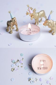 Secret message in a candle | New Years Eve Party Idea! Holidays Silvesterdeko…