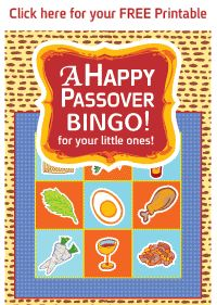 A Happy Passover BINGO!   FREE Printable for your little ones! :-)