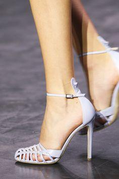 Altuzarra spring 2015 runway | Something Blue | Wedding Shoes | Bridal Accessories | Strappy stiletto | Ankle Strap High Heel