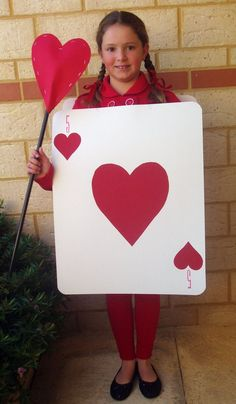 alice in wonderland card soldier costume | Then we have a very ...