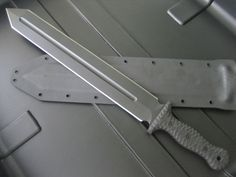 """Miller Bros. Blades Customized M-18 Tactical Gladius with fullers and square tip profile, 5/16"""" thick 5160,  17"""" Blade, 2-1/4"""" wide. G-10 Grip.   Miller Bros. Blades Custom Tactical Sword  Custom Handmade Swords, Knives & Tomahawks/Axes http://www.millerbrosblades.com/"""