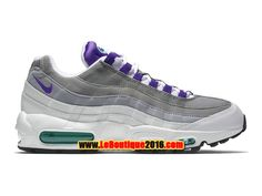 """Nike Air Max 95 OG """"Grape"""" 2015 Homme Chaussures NIke Pas Cher Blanc/Violet 554970-151"""