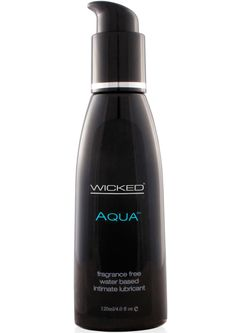 Buy Wicked Aqua Water Based Lubricant Unscented 4 Ounce online cheap. SALE! $11.49