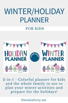 Get Your Winter and Holiday Planner Bundle $6.99 on Etsy. Plan your holidays with the family. #holidayplanner Kids Planner, Weekly Planner, Holidays With Kids, Holidays And Events, Holiday Planner, Family Organizer, Holiday Activities, Me Time, Marketing And Advertising