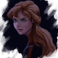 Princess Anna Frozen, Disney Princess Art, Disney Fan Art, Princess Pics, Frozen Fan Art, Disney And Dreamworks, Disney Pixar, Cold Heart, Studio Ghibli Films