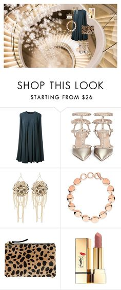 """ночь"" by armuzafarova on Polyvore featuring CO, Valentino, Bebe, Links of London, Clare V., Yves Saint Laurent and Salvatore Ferragamo"