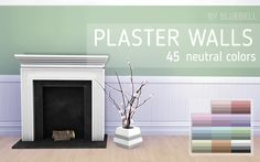Plaster Walls for TS4 ♥• 52 bright colors • 28 dark colors • 45 neutral colors • Custom thumbnail • Base game compatible • Credits: @madmono conversion TOU: please don't re-upload or claim as your...